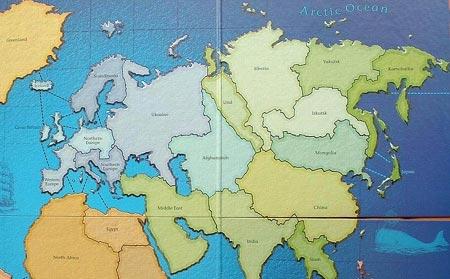 Карта мира. Взгляд из Америки