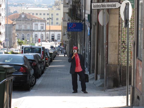 Европа 2009. Порто. Антиглобалист